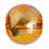 Glass Bead Round 12mm 8'' strand Topaz/Gold